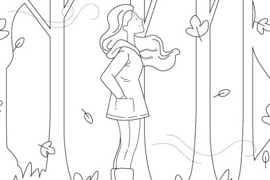 Imprimer le vent d'automne pour dessiner