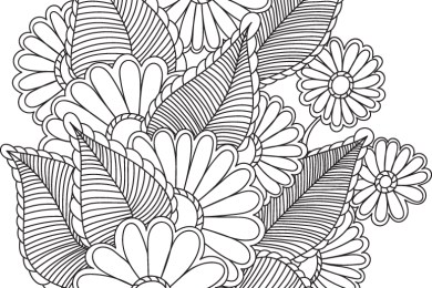 Floral automne doodle à imprimer