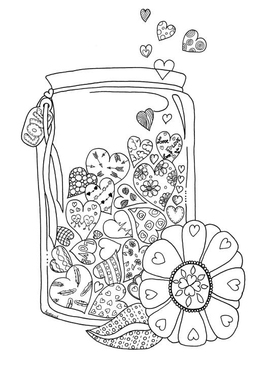 Pot d'amour à dessiner par Azyrielle