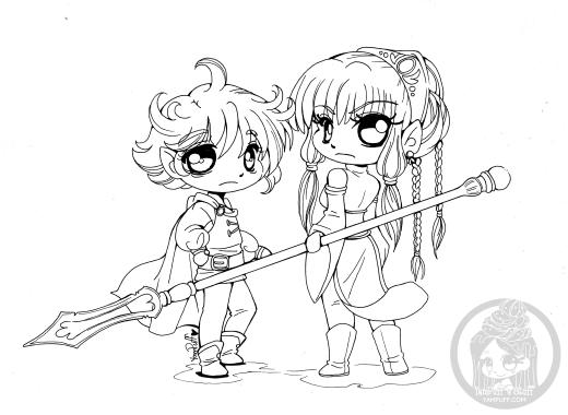 Chibi elfe à dessiner par YamPuff