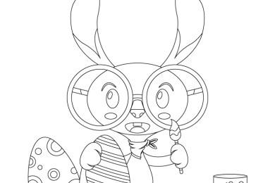 Lapin de Pâques hipster à dessiner