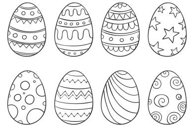 Jeux de Pâques gratuits coloriage oeuf