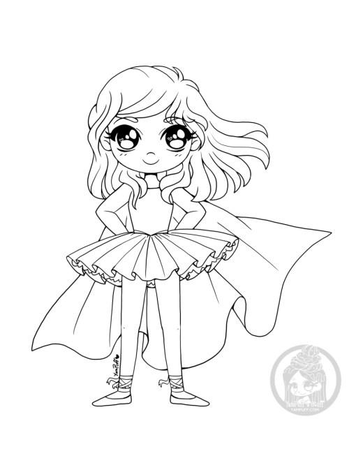 Dessin ballerine super hero par YamPuff