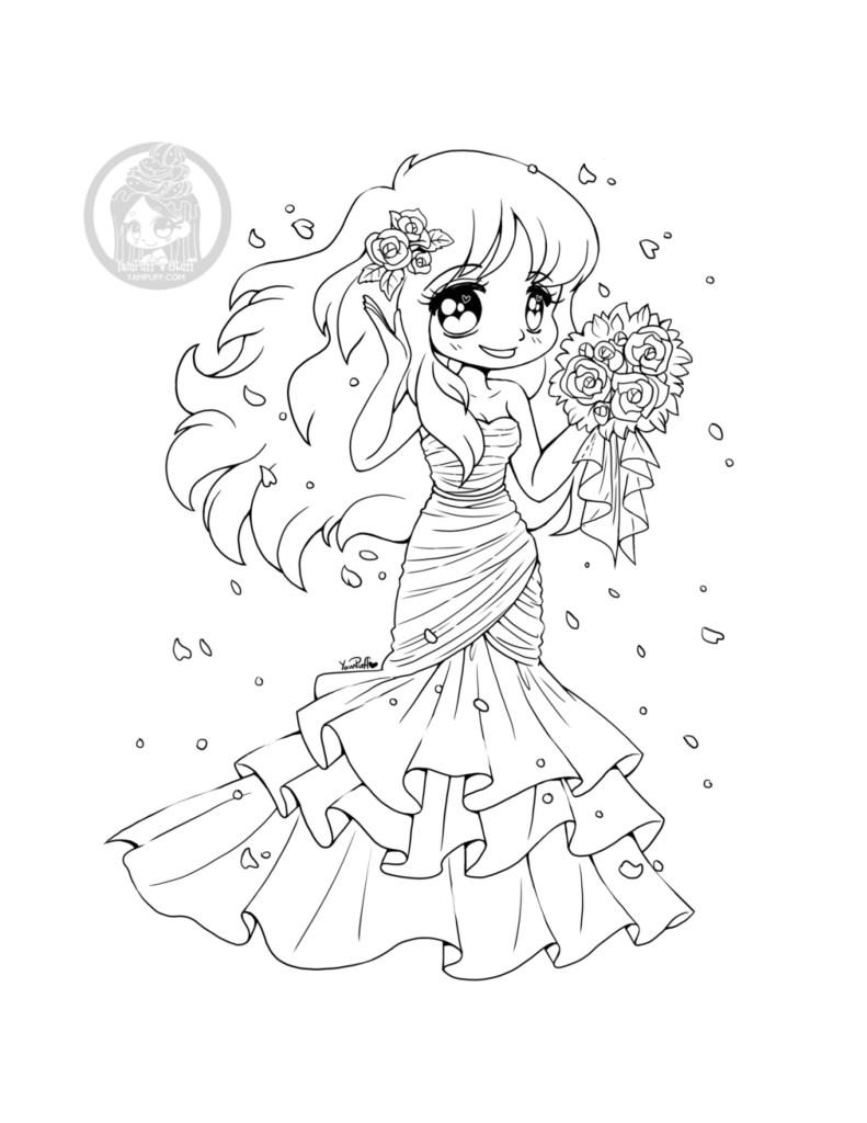 Jeune mariée kawaii coloriage par YamPuff