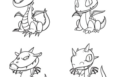Train your dragon coloriage adulte