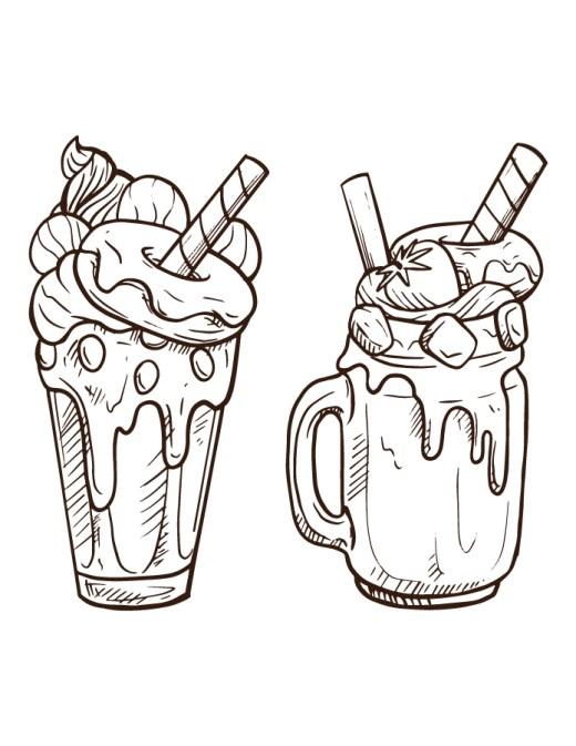 Délicieux milkshake gratuit à colorier