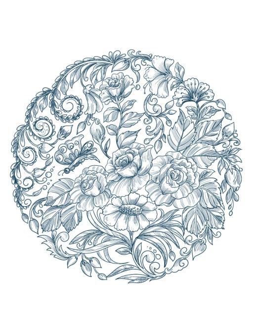 Fleurs mandala adulte à imprimer