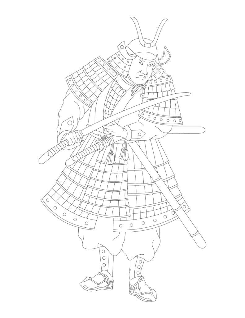 Samuraï dessin Mulan 2020 gratuit
