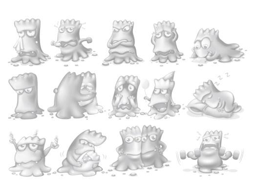 Page grayscale monstre dessin gratuit