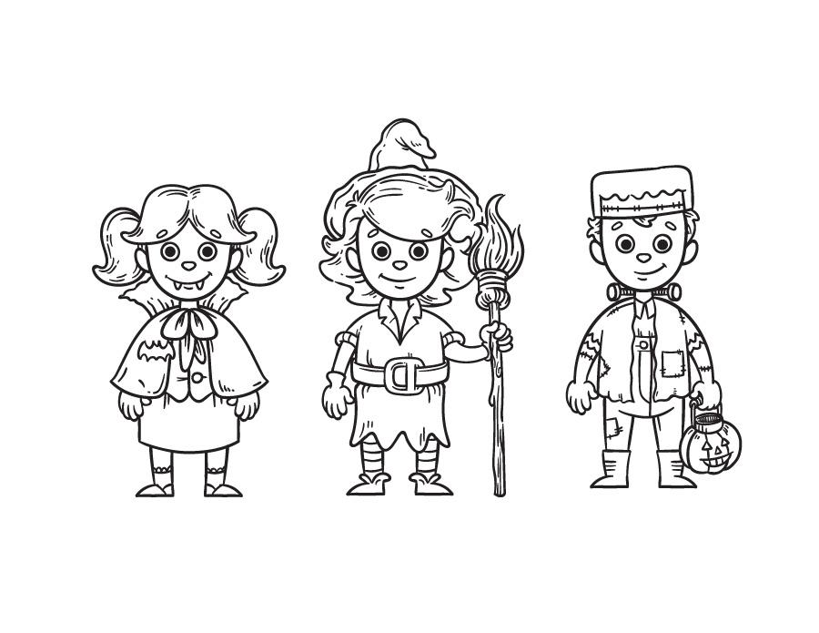 Enfants costumes gratuit à imprimer