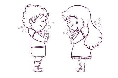 Premier amour carte à dessiner