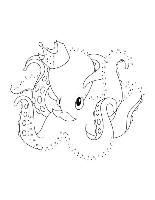 Image points à reliés gratuite octopus
