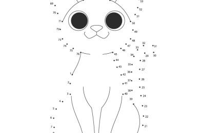 Chat dot-to-dot facile à dessiner