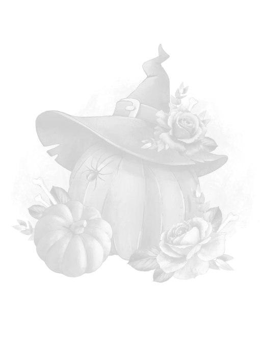Citrouille automne à colorier grayscale
