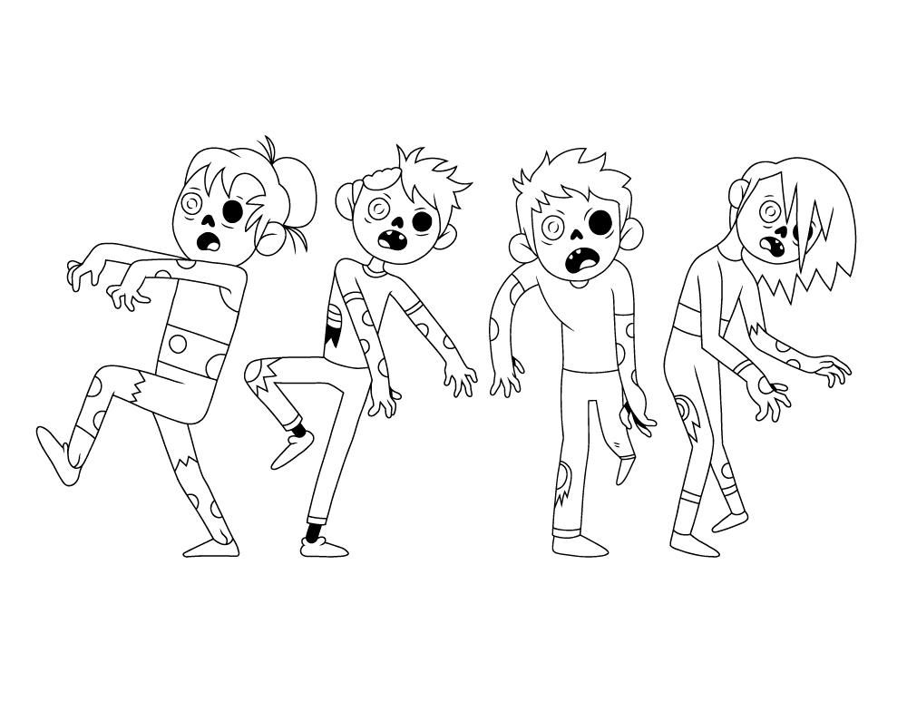 Halloween nightmare zombi à dessiner