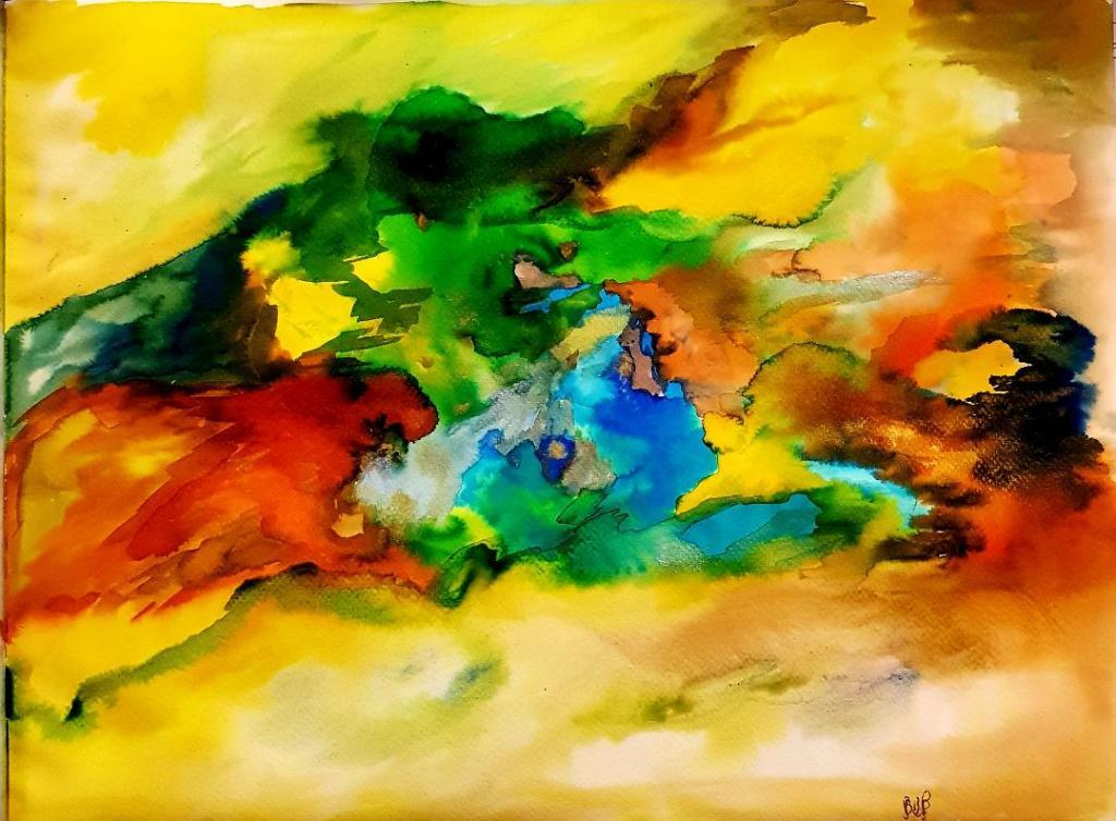 BMP – Un mélange d'eau de glaçon, de peinture aquarelle et d'encre de couleur liquide