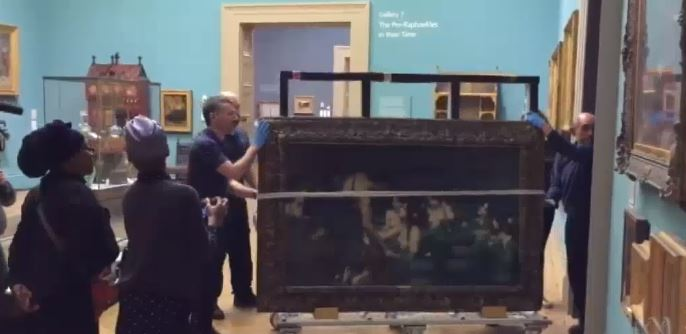 Manchester Art Gallery has removed the Hylas and the Nymphs painting