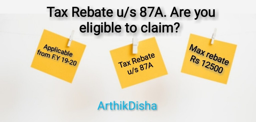Tax Rebate us 87A