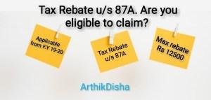 Tax Rebate us 87A