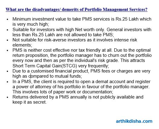 Disadvantages of PMS services