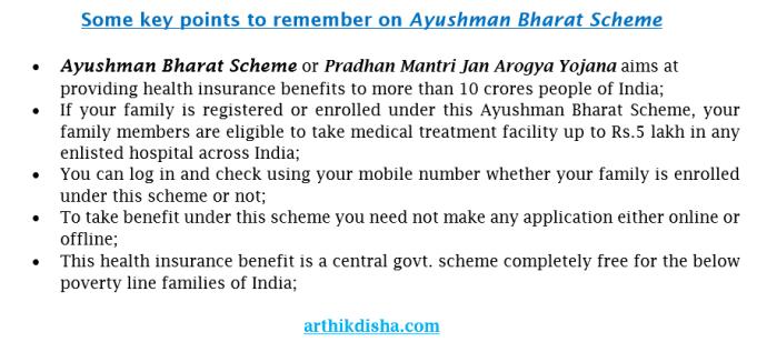Key points on Ayushman Bharat Scheme