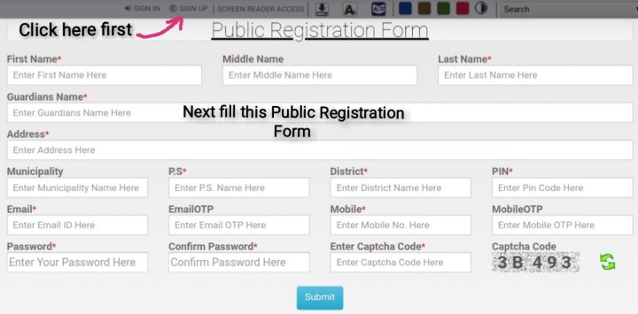 Banglarbhumi-Public Registration Form for Signup-ArthikDisha.