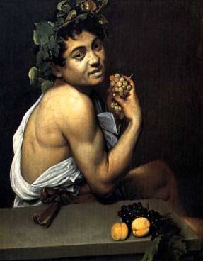Caravaggio, Self-porrait as young sick Bacchus, 1593