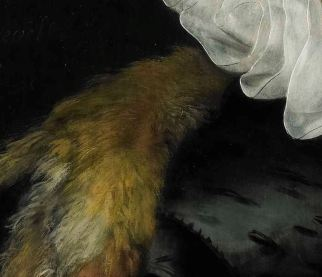 Detail of fabric and fur treatment