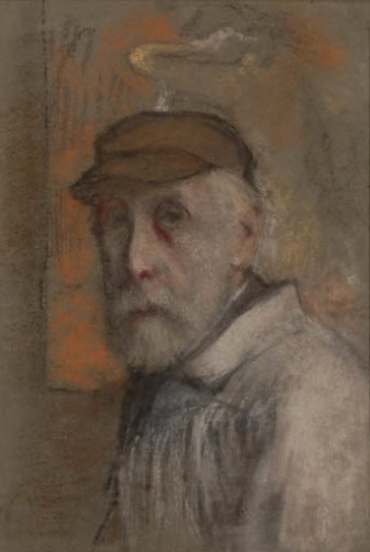 Degas' last self-potrait, 1900-1905, 47.5 x 32.5 cm. Photo: Hans G. Scheib, Cologne