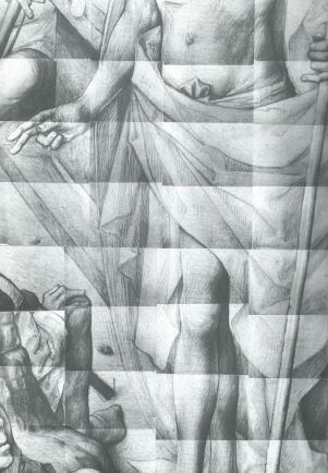 IRR mosaic of the underdrawing in the Resurrection, detail