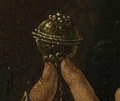 40. Detail of the Rijksmusem portrait of Jan Gerritz van Egmond showing the prayer nut