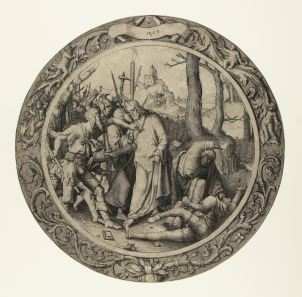 4. Lucas van Leyden, Betrayal of Christ, 1509, copper engraving, 28.5 cm