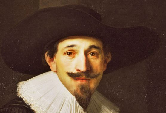 Jean Pellicorn (detail), Hendrik Uylenburg studio (Rembrandt?), c. 1632, oil on canvas,194x162 cm, Wallace Collection