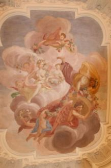 Ceiling painting by Jan van Dyk in Oranienstein