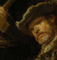"The face of the drummer in Rembrandt's ""Night Watch"" (1642)"