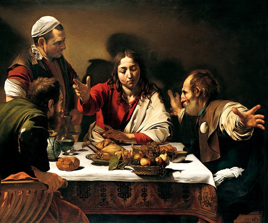 Cena en Emmaus. Caravaggio