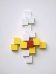 Рон Костинюк. З циклу Кубики.  1963 - 65. Структура-рельєф. Колекція Ендрю та Олександри Ільків