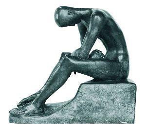 Вільгельм Лембрук. Юнак, що сидить. 1916/1917. Бронзове литво. Дуйсбург. Музей Лембрука
