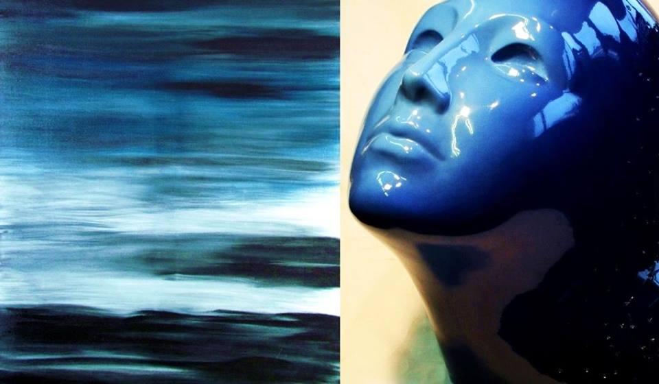 Зліва направо: 1. Абстрактний живопис Лери Літвінової. 2016. Олія. 120 х 80; 2. Микита Зігура. Світанок. 2016