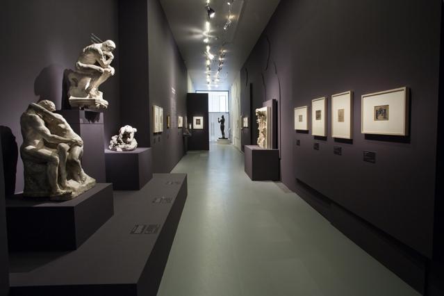 Scénographie exposition L'enfer selon Rodin