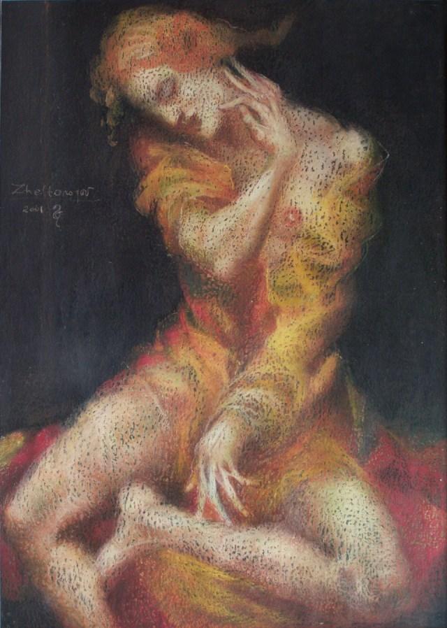"""Та, що сидить. (Ввійшла до каталогу арт-проекту """"Russian artistic guide 2002"""""""
