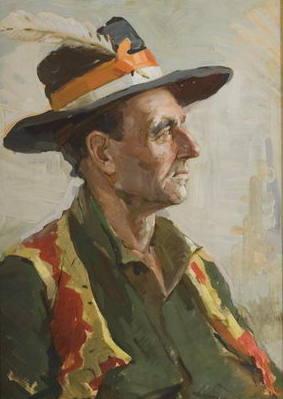 Тайбер Павло Абрамович. Портрет гуцула. 1964