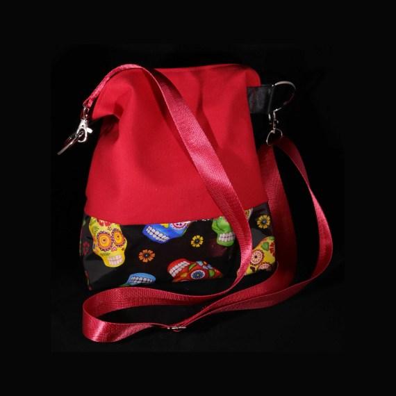 Skull handbag red