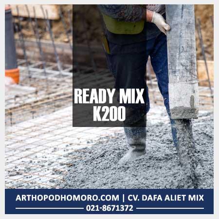 Beton Readymix Mutu K200