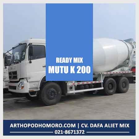 Beton Readymix Mutu K 100