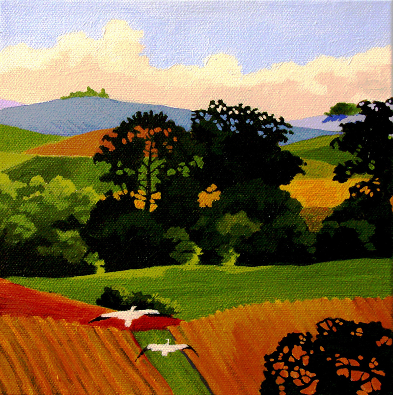 "Napa Valley # 1 8"" x 8"" by Sue Chapman"