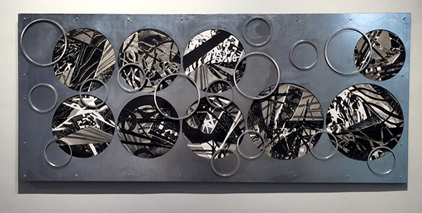 """""""Circles"""" Monotype Collage and Metal by Gutermute and Sharma"""