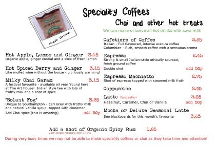 coffee hot drinks chai