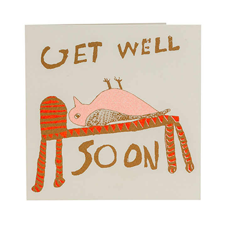Get Well Soon Bird Card Arthouse Unlimited