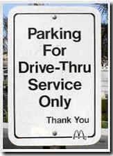 Parking for Drive Thru